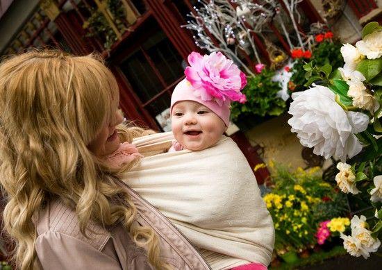 Babytragetuch Beziehung Kind Mutter Vatter vertrauen