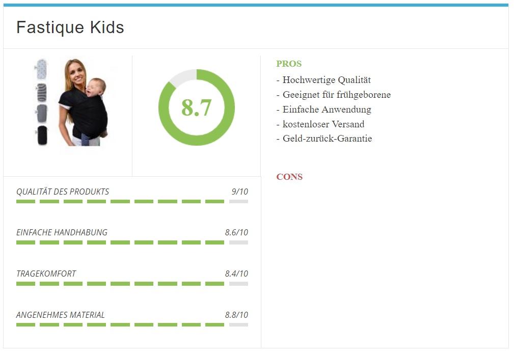 Babytragetuch Fastique Kids im Test und Vergleich