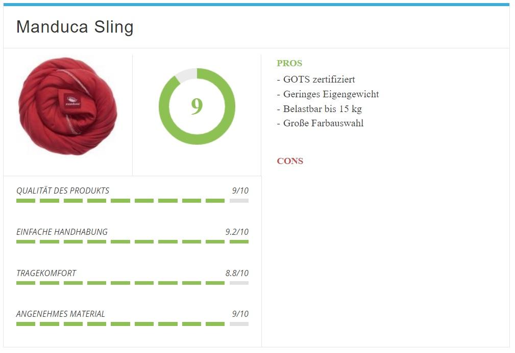 Babytragetuch Manduca Sling im Test und Vergleich