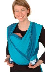 Didymos Babytragetuch Test - Modell Jan Farbe blau sehr bequem für Kind und Mutter