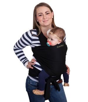 Babytragetuch - CuddleBug Baby Wrap Tragetuch schwarz
