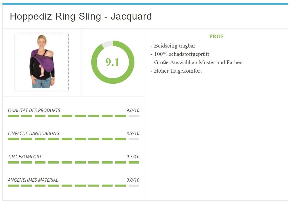 HOPPEDIZ Jacquard Ring-Sling Übersicht