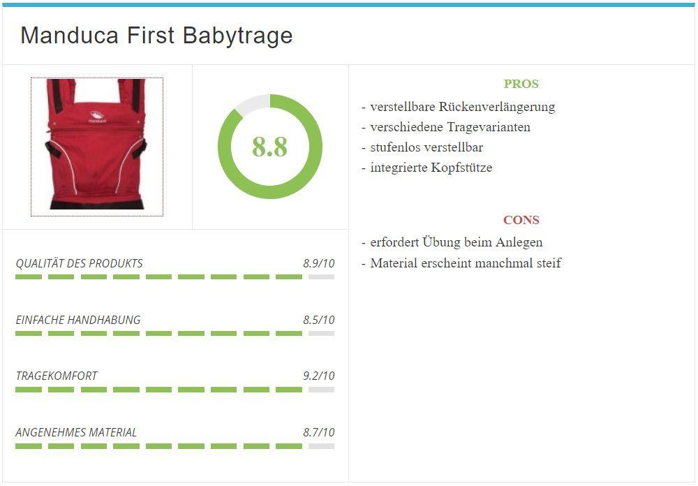 manduca Baby und Kindertrage Test und Bewertung